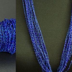 NWT Blue Beaded Multi Strand Bracelet and Necklace